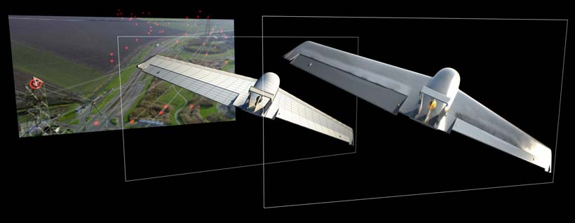 UAV CG Visual Composited