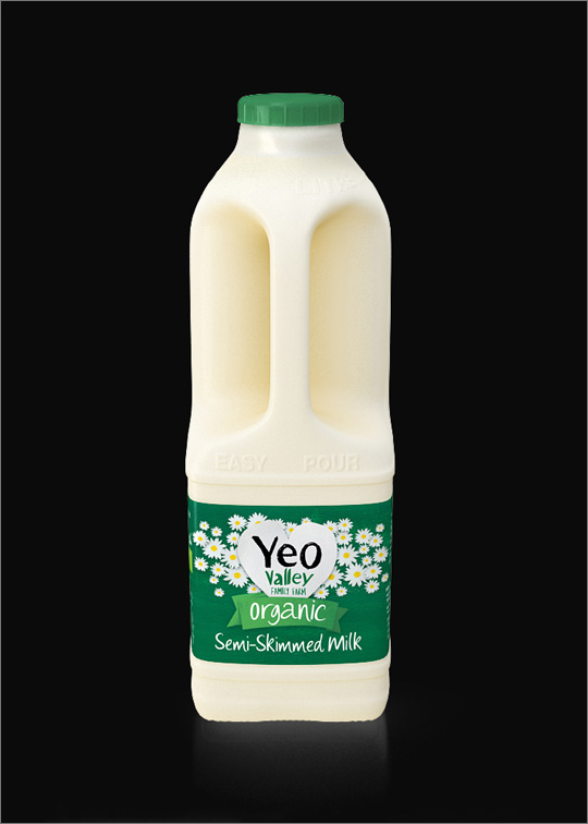 Yeo Valley 3D Milk Packaging Visual