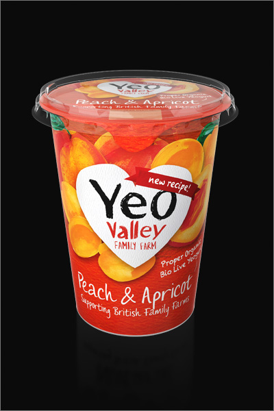 Yeo Valley 3D Yogurt Packaging Render